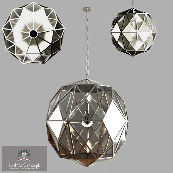 3DOcean Glass Metal Cage Pendant 20569215