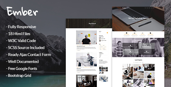 ThemeForest Ember Marketing Agency HTML Template 20457296