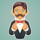 Victorian Gentleman Businessman Character Mascot