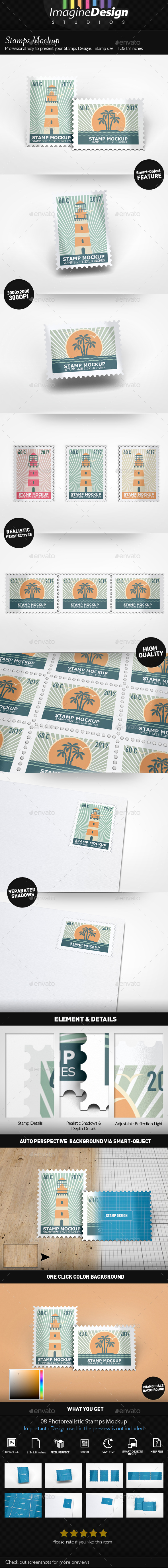 GraphicRiver Stamps Mockup 20569309