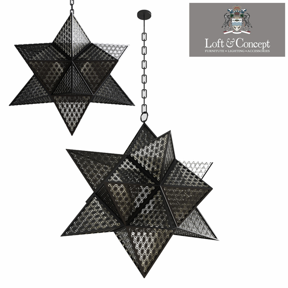 Morocco Black Star - 3DOcean Item for Sale