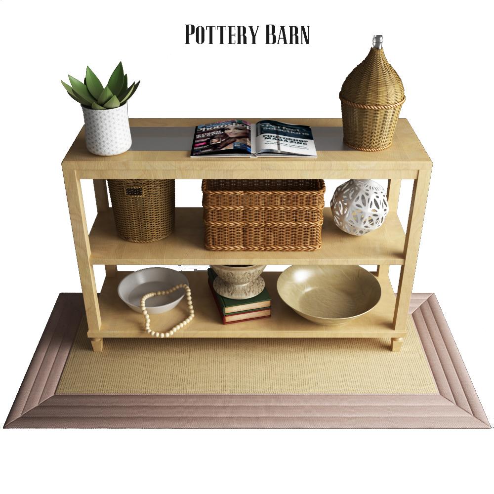 Pottery Barn Sausalito Console Table