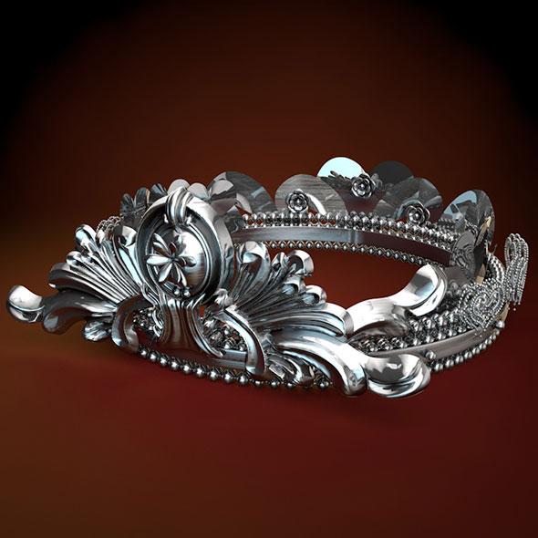 Crown 3d model - 3DOcean Item for Sale