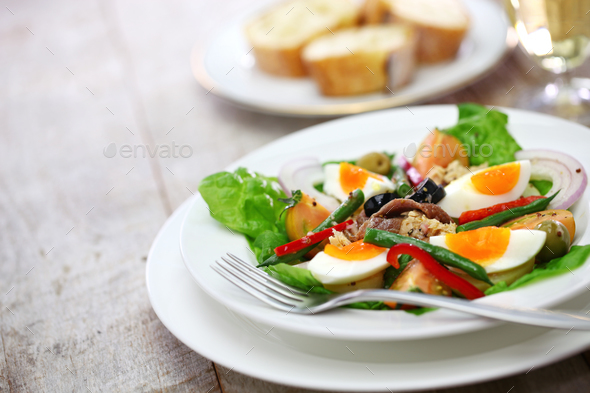 nicoise salad, french cuisine - Stock Photo - Images