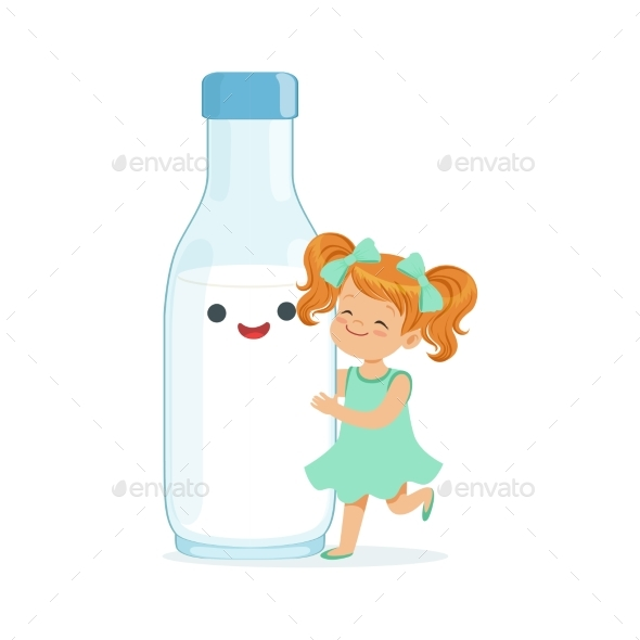 GraphicRiver Girl and Milk Bottle 20569662