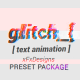 Project-x Glitch Text Maker + 30 Presets - VideoHive Item for Sale