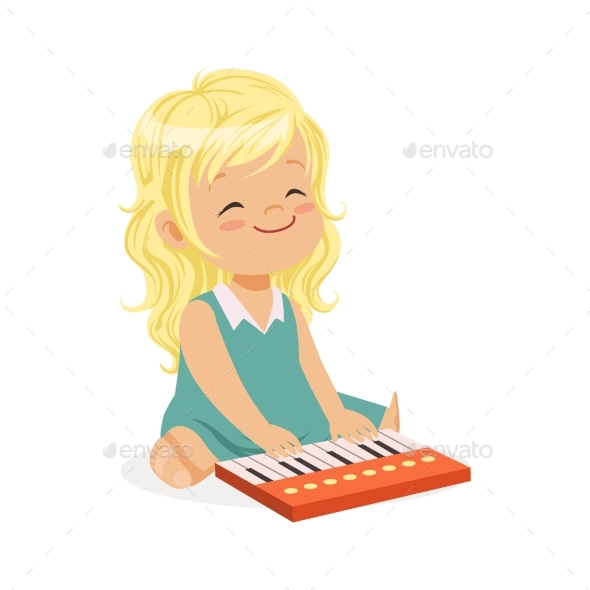 GraphicRiver Girl Playing Piano 20569857