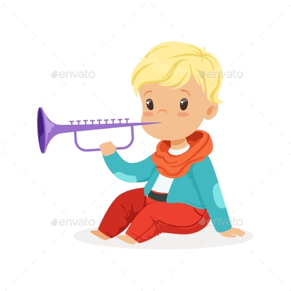 Boy Playing Clarinet - People Characters
