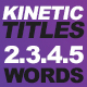 Fast Kinetic Titles - VideoHive Item for Sale