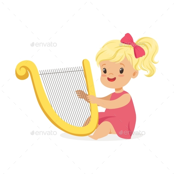 GraphicRiver Girl Playing Harp 20569878