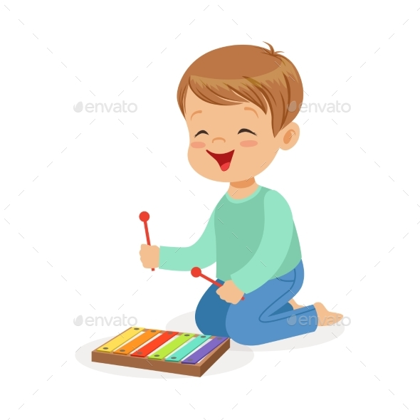 GraphicRiver Boy Playing Xylophone 20569880