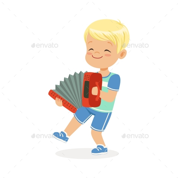 GraphicRiver Boy Playing Accordion 20569899
