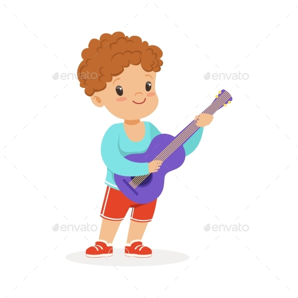 GraphicRiver Boy Playing Guitar 20569903