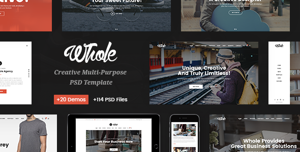 Whole - Responsive Business Multi-Purpose PSD Template