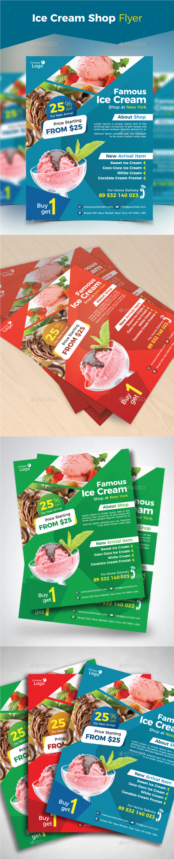 Ice Cream Shop Flyer - Restaurant Flyers