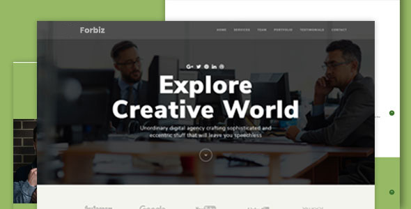 Forbiz - Creative Multipurpose Template - Technology Site Templates