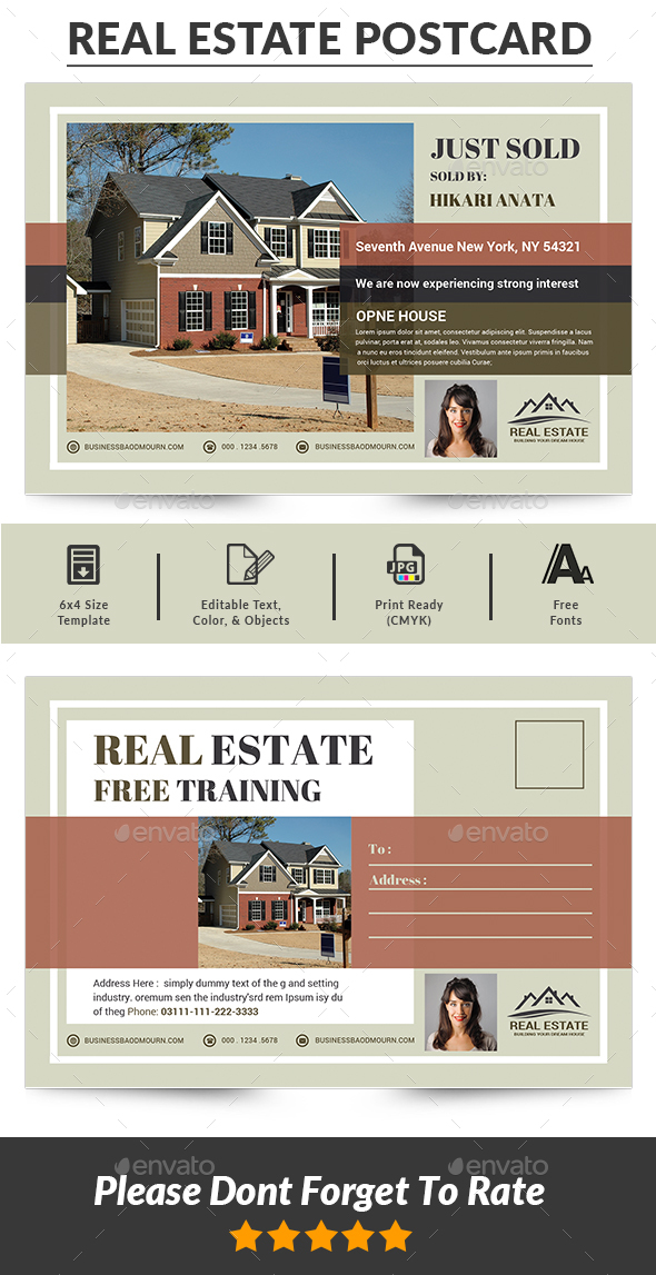 Real Estate Postcards - Cards & Invites Print Templates