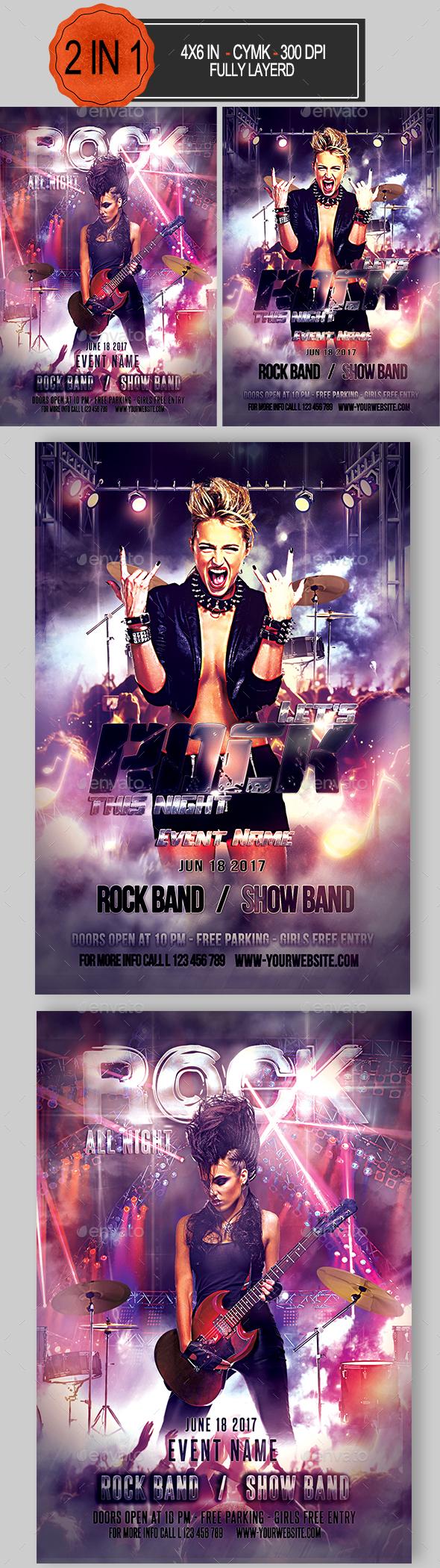 Rock Flyer Bundle - Clubs & Parties Events