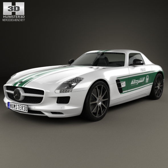 Mercedes-Benz SLS-class (C197) AMG Police Dubai 2013