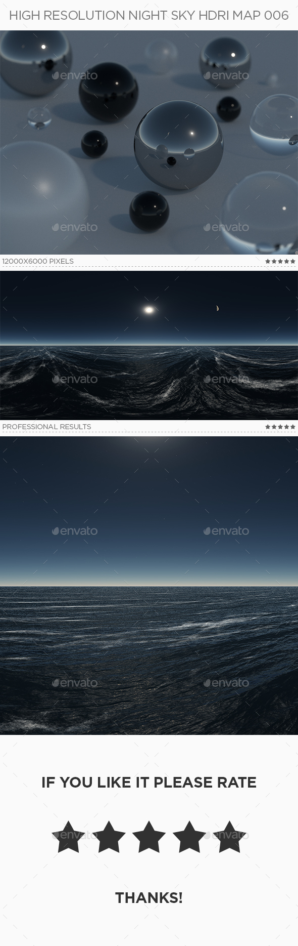 High Resolution Night Sky HDRi Map 006 - 3DOcean Item for Sale