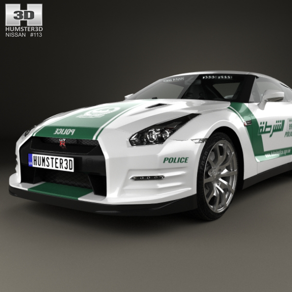 Nissan GT-R (R35) Police Dubai 2013 by humster3d | 3DOcean