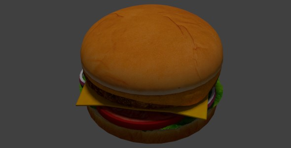 Hamburger - 3DOcean Item for Sale