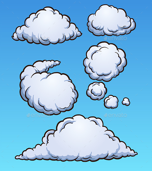 GraphicRiver Cartoon Clouds 20570918