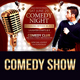 Comedy Night Open Mic Flyer - GraphicRiver Item for Sale