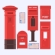 Vector Illustration of Mail Boxes Set - GraphicRiver Item for Sale
