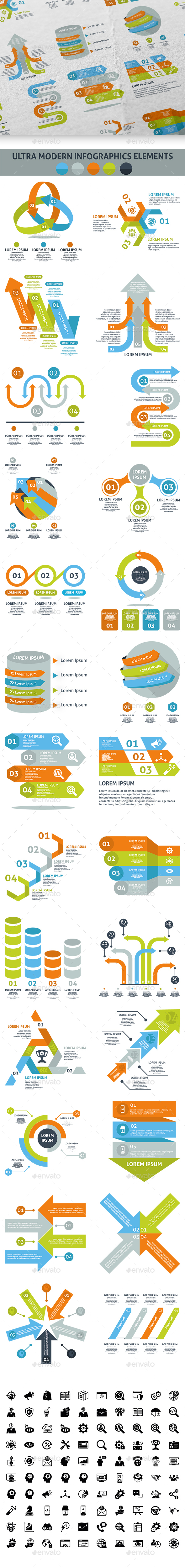Ultra Modern Infographic Elements - Infographics