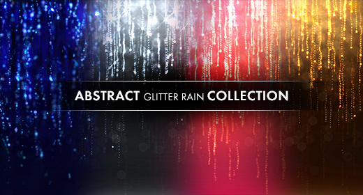 Abstract particles rain colection