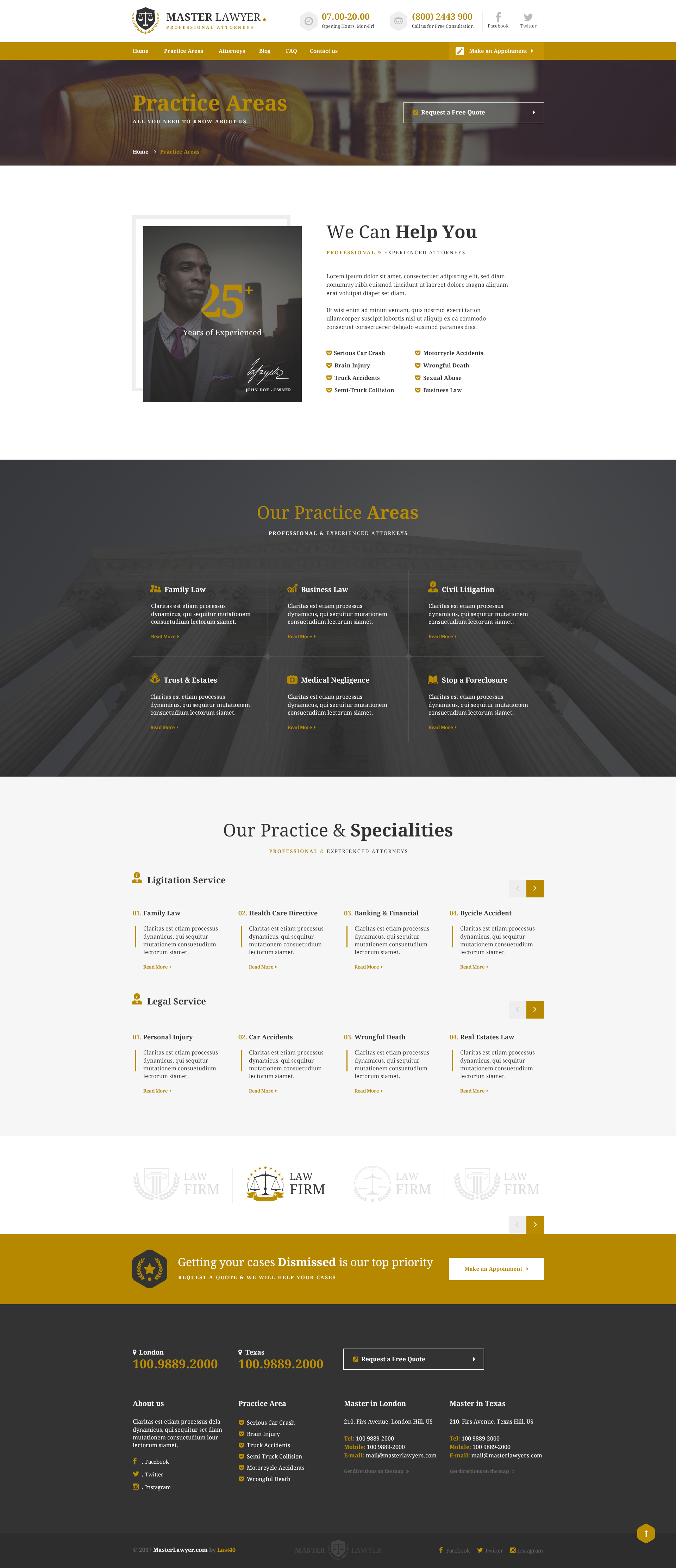 Master Lawyer - PSD Template by Last40 | ThemeForest