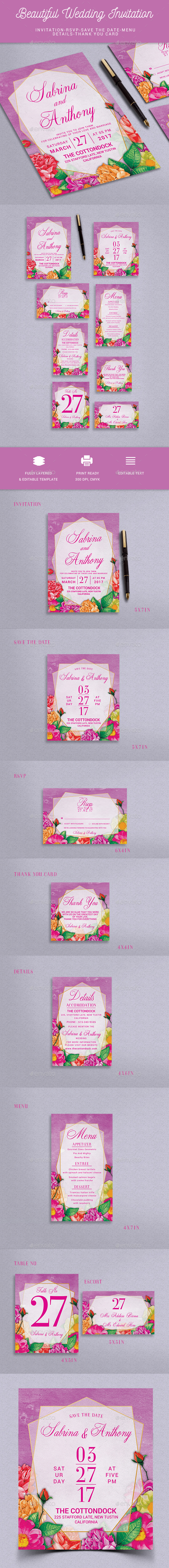 GraphicRiver Wedding Invitation 20571402