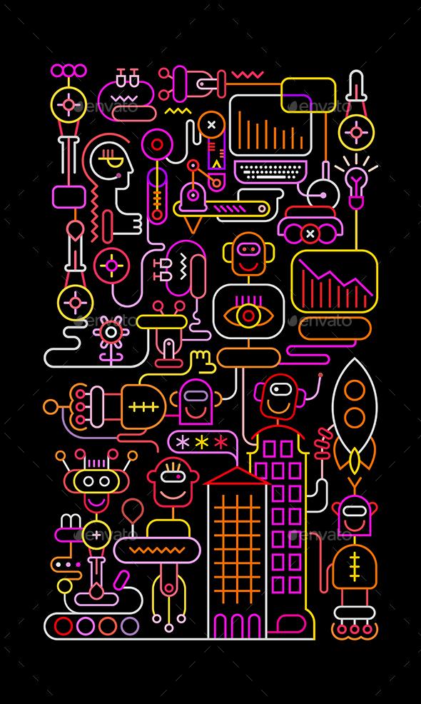Robots - Miscellaneous Vectors