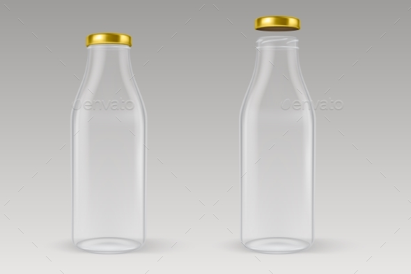 GraphicRiver Vector Realistic Transparent Closed and Open Empty 20571722