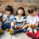 Group of Diverse Kids Sitting with Fresh Vegetable Together - PhotoDune Item for Sale