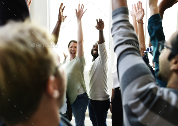 Startup Business People Teamwork Cooperation Hands Up Agreement - Stock Photo - Images