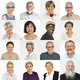 Set of Diversity Senior Adult People Face Expression Studio Coll - PhotoDune Item for Sale