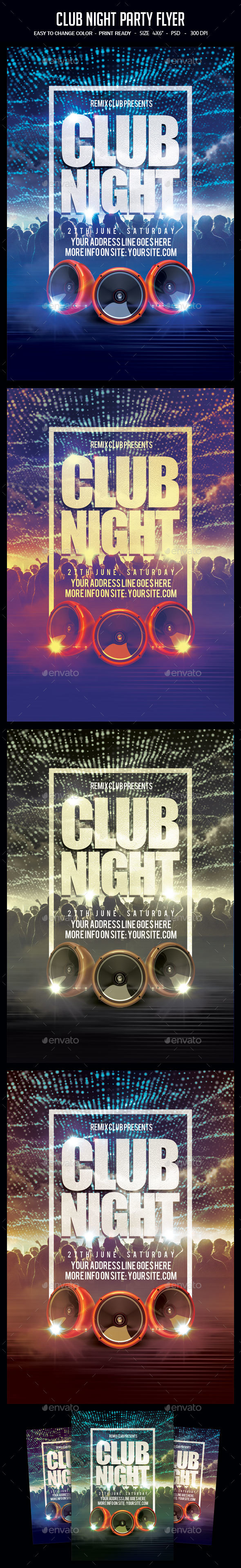 GraphicRiver Club Night Party Flyer 20572274