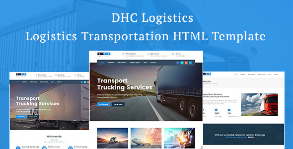 ThemeForest DHC Logistics Transportation HTML Template 20572310