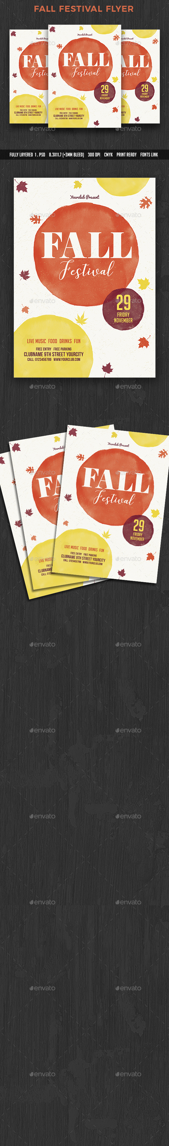 Fall - Events Flyers