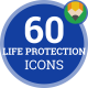 Life Protection  Medical Insurance Animation - Flat Icons and Elements - VideoHive Item for Sale