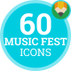 Music Festival Fest Concert Party Animation - Flat Icons and Elements