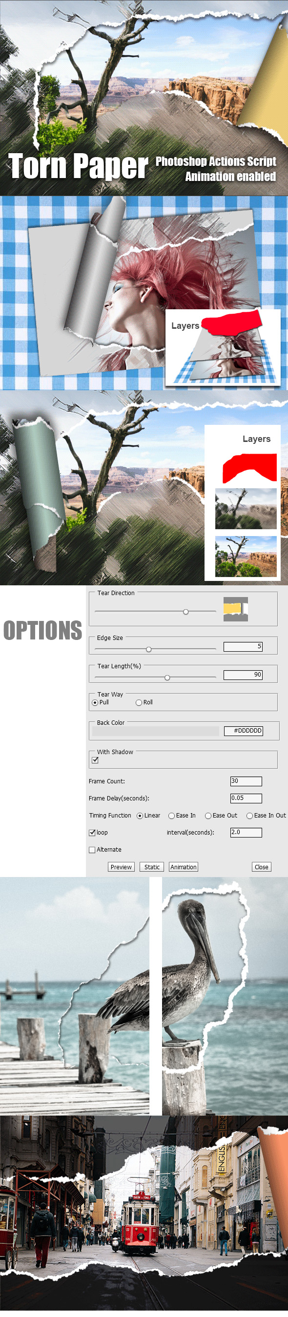 GraphicRiver Torn Paper Animation Photoshop Add-on 20572901