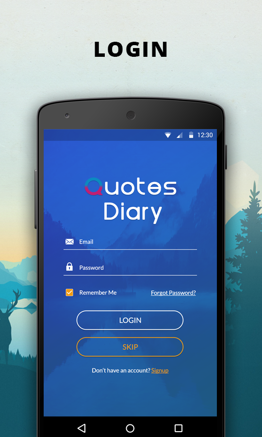 Quotes Diary Android App By Viaviwebtech Codecanyon