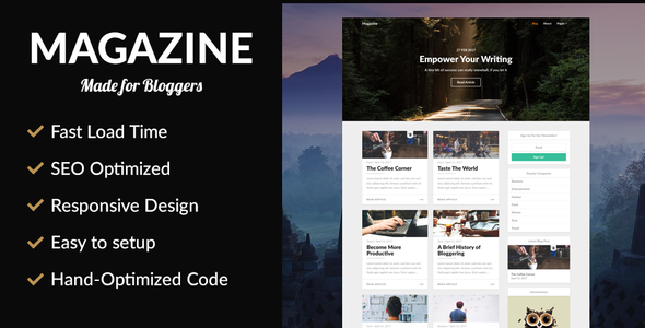 ThemeForest Magazine SEO Optimized News Theme 20462177