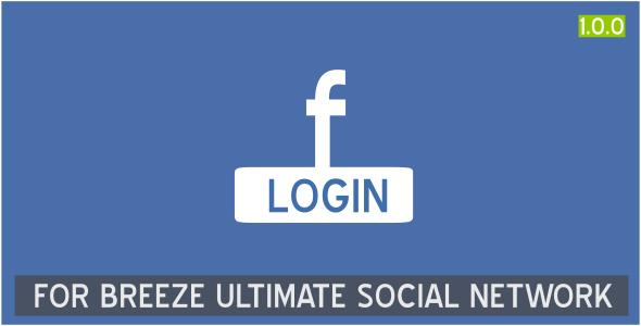 Facebook login for Breeze Ultimate Social Network