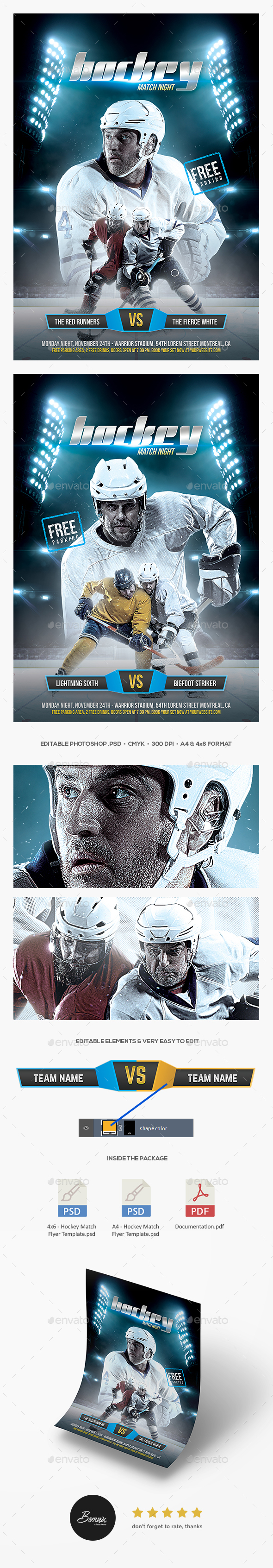 GraphicRiver Hockey Match Flyer 20573079