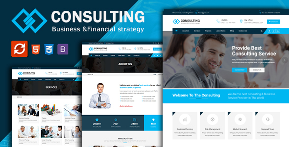 Consulting - Financial Business & Consulting HTML Template