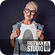 Old Woman T-Shirt Mock-Up - GraphicRiver Item for Sale
